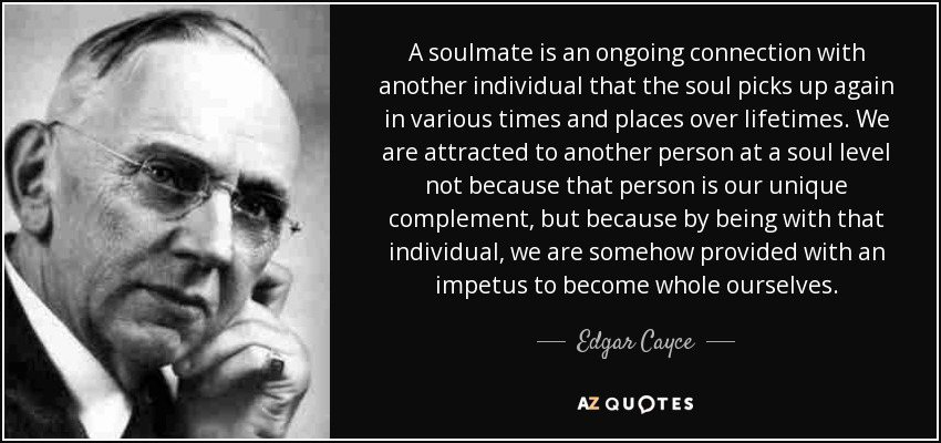 Edgar Cayce's teachings about soulmates
